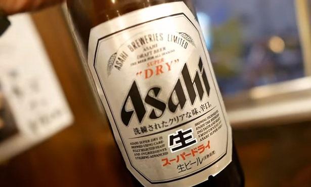 瓶ビールはスーパードライを