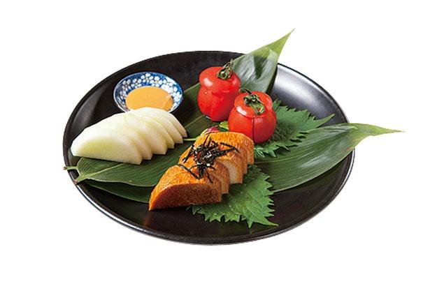 「旬鮮 特選野菜の3種盛り」(1000円)/地酒蔵大阪 本店