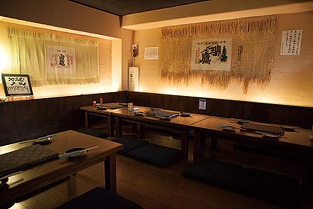 地下の隠れ家のような座敷/地酒蔵大阪 本店