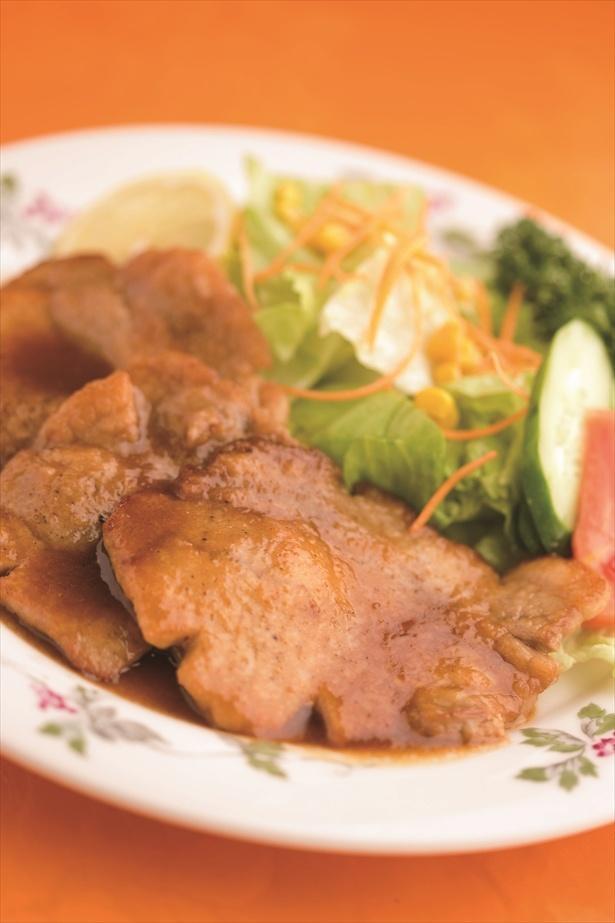 モデル・タレントとして活躍する木下優樹菜のおすすめは、「二葉会館 レストラン サンセール」の三元豚ロース肉の生姜焼き1450円