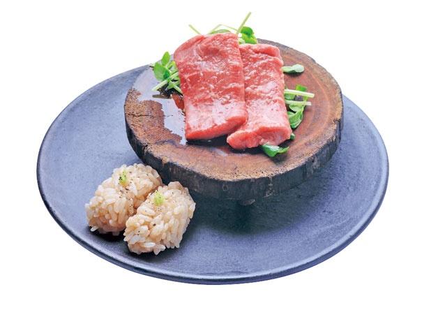 「和牛赤身」(1貫330円)/福島 焼肉寿司