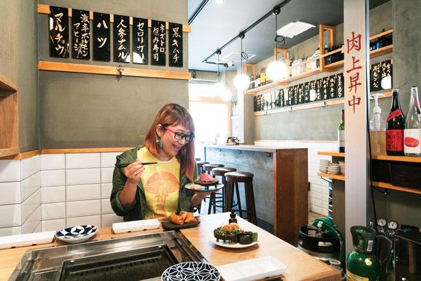 店は1~3階の3フロア/福島 焼肉寿司