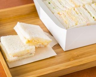 """福岡では珍しい""""佐世保サンドイッチ""""の専門店。優しい甘さのマヨネーズ、シンプルな具材の組み合わせが特徴だ"""