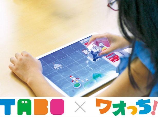 iPadの上で動くロボット「TABO(たーぼ)」のプログラミングにチャレンジ