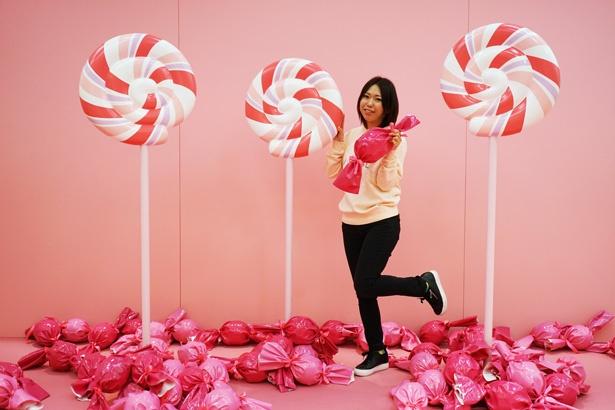 「ビニール・ミュージアム」のフォトスポット、Candy(4F)