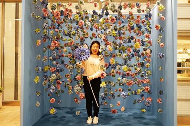 「ビニール・ミュージアム」のフォトスポット、Flower(3F)
