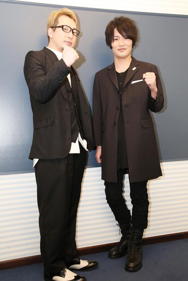 ジャンクドッグを演じる細谷佳正(右)と、そのライバル・勇利を演じる安元洋貴(左)。2人の関係は「あしたのジョー」の矢吹丈と力石徹を彷彿とさせる