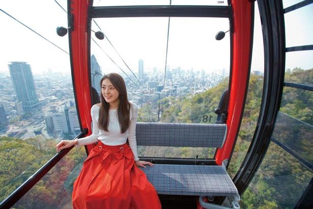 【写真を見る】園内へは全長1460mのロープウェイで/ザ・ヴェランダ神戸