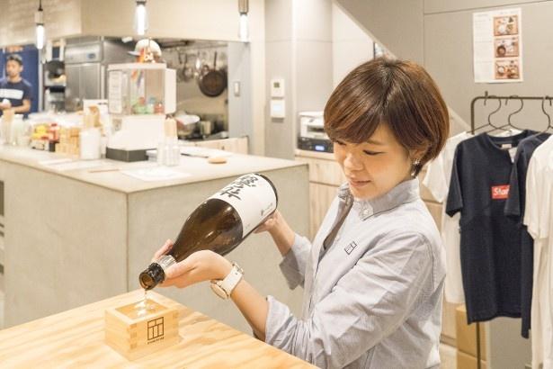 日本酒も木札1枚からOK!スイーツと合わせたり楽しみ方はいろいろだ