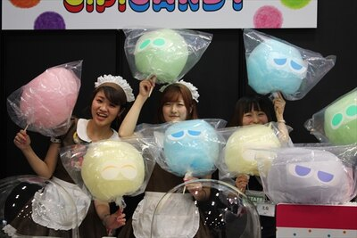 大きなわたあめ屋「C.P.CANDY Akihabara」の会場限定「ぷよぷよわたあめ」