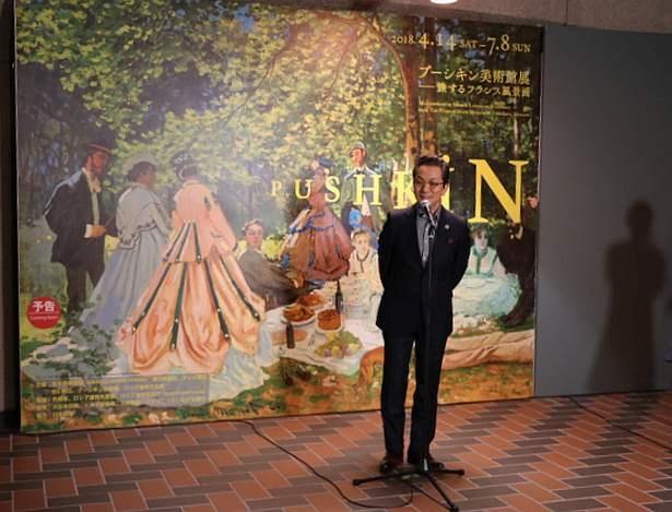 「プーシキン美術館展―旅するフランス風景画」スペシャルサポーターとして音声ガイドのナビゲーターを務める俳優の水谷豊