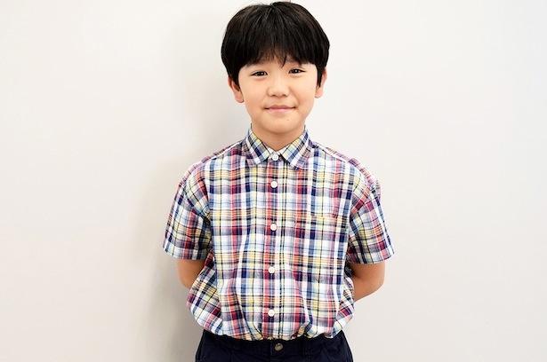 連続テレビ小説「半分、青い。」で、律の幼少期を演じる高村佳偉人