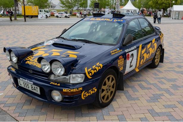 WRCラリーに参戦していたSUBARUのラリー車両レプリカ