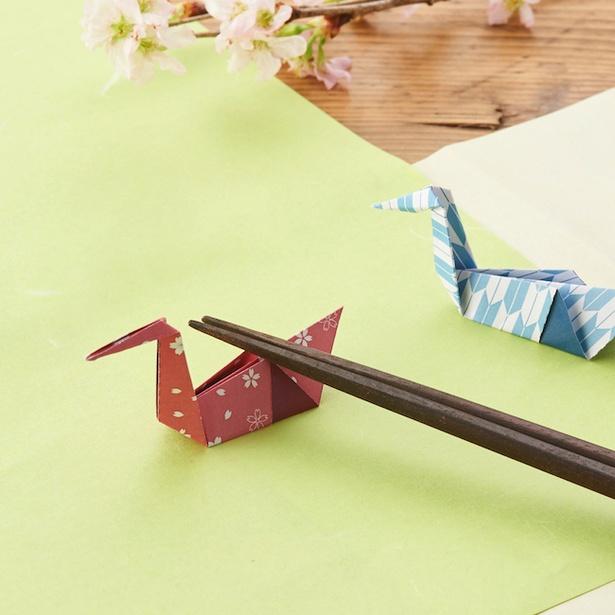 「2人で仲良く作ろう!春満開・箸おき」で華やかな食卓を演出
