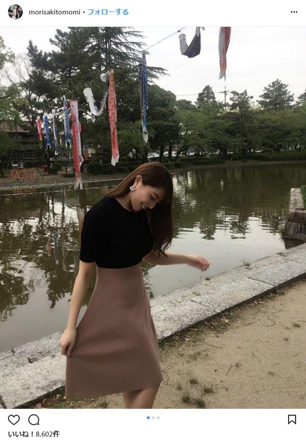 撮影会に出席した森咲智美