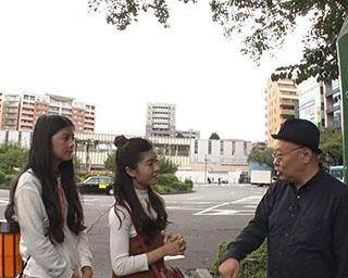 BNK48のメンバーが東京都国立市を訪れたようす