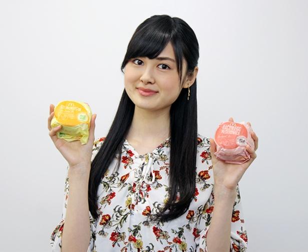 【写真を見る】現役女子大生モデルの中島彩香さんが新しくなった朝マックを実食!