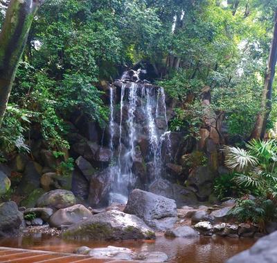 名主の滝公園は、4つの滝を楽しめる回遊式庭園