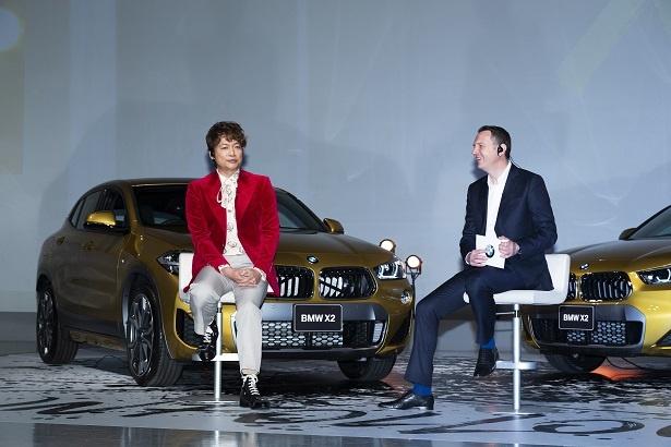 トークセッションで、代表取締役社長のペーター氏は「BMWを象徴するにふさわしい存在」と香取を激賞