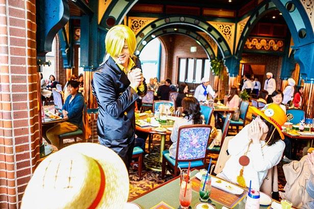 連日チケットが売り切れるほど人気だった「サンジの海賊レストラン」。※画像は昨年のもの(画像提供:ユニバーサル・スタジオ・ジャパン)