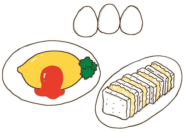 卵サンド、オムライスなど人気の卵料理はパワーフード!その理由は?