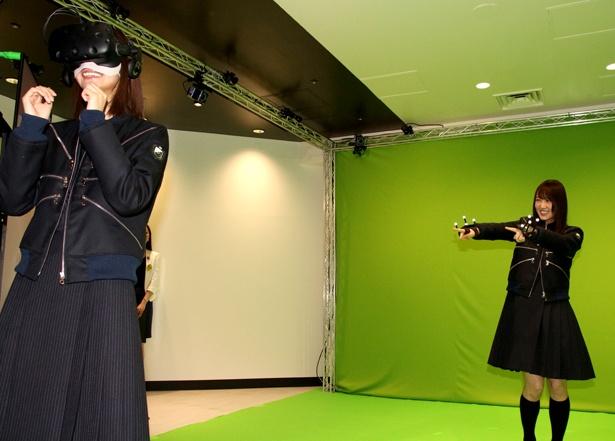 菅井友香のリアルタイムの3DCG映像を土生瑞穂が鑑賞