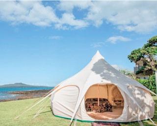 テントはすべて、ロータスベル社/Okubiwako Marvelous Green