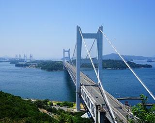 岡山県と香川県を結ぶ瀬戸大橋
