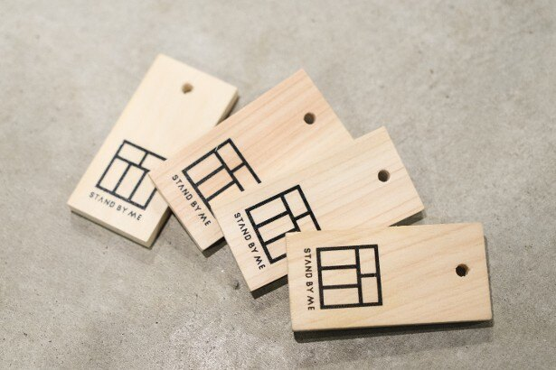 <Hostel STAND BY ME>木札はレジにて4枚1000円で販売している
