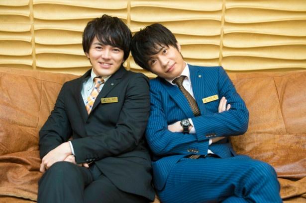 「おっさんずラブ」に出演する(写真左から)林遣都、田中圭