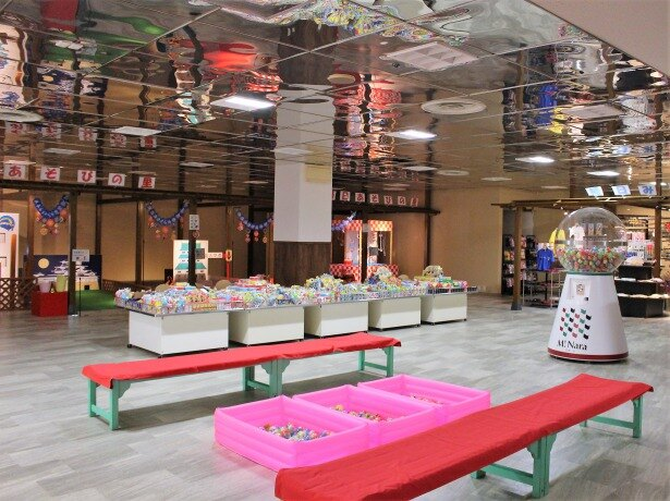 日本の祭り! 輪投げやヨーヨーなど1年中縁日気分が体験できる「縁日コーナー」(4階)も
