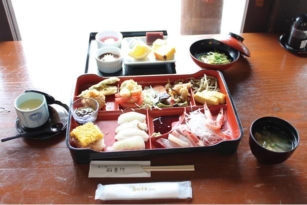 海の駅 船番所 / 寿司は1回の注文で4貫まで注文可