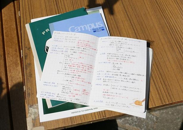 先輩マネージャーから受け継いだノートや日記