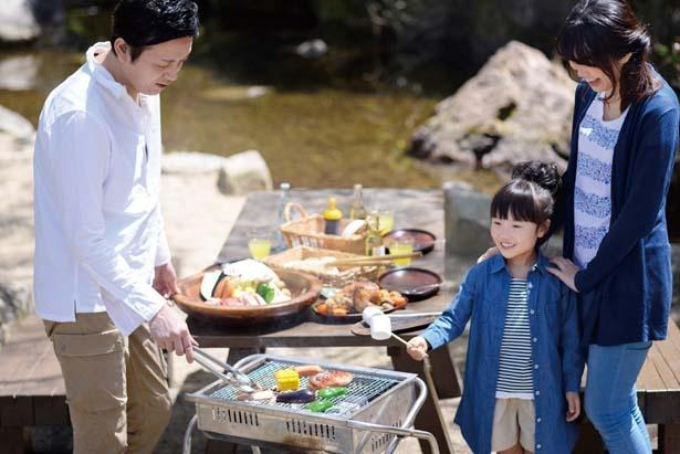 「高原BBQ」は1人2200円~/GRAX PREMIUM CAMP RESORT 京都 るり渓
