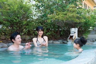 隣接する「るり渓温泉」/GRAX PREMIUM CAMP RESORT 京都 るり渓