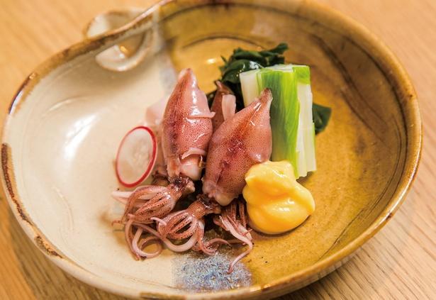 外はプリプリ中はトロリ!日本橋とやま館で5月中旬まで味わえる「ホタルイカ生姜醤油」(1300円)