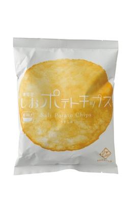 いしかわ百万石物語・ 江戸本店で販売する「しおポテトチップス(Ante)」(378円)は、素材の味を生かしたシンプルなおいしさ