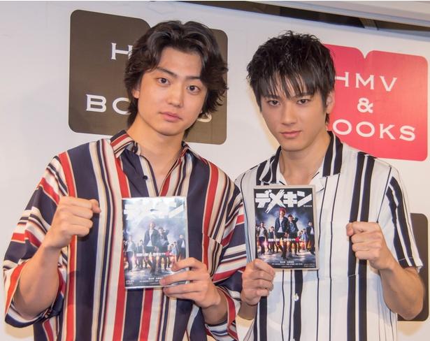 DVD「デメキン」発売記念イベントに出席した健太郎と山田裕貴
