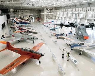 建物の面積が1.7倍となる9400平方メートルに拡大。ビッグスケールな航空宇宙博物館に進化した