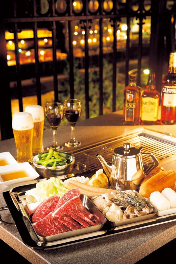 【写真を見る】「天壇 焼肉コース」/焼肉の名門 天壇 祇園本店 鴨川スカイBBQガーデン