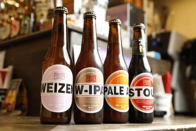 日本国内外のクラフトビールが約40種そろう