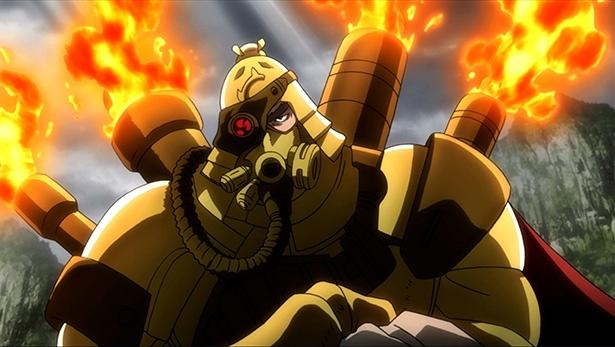 「重神機パンドーラ」第5話の先行カットが到着。大型輸送機を破壊した者の正体は?