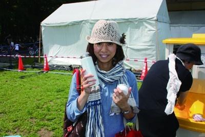 川崎から友人と来た女性。アートイベントやクラフトマーケットが好きでよく足を運ぶそう