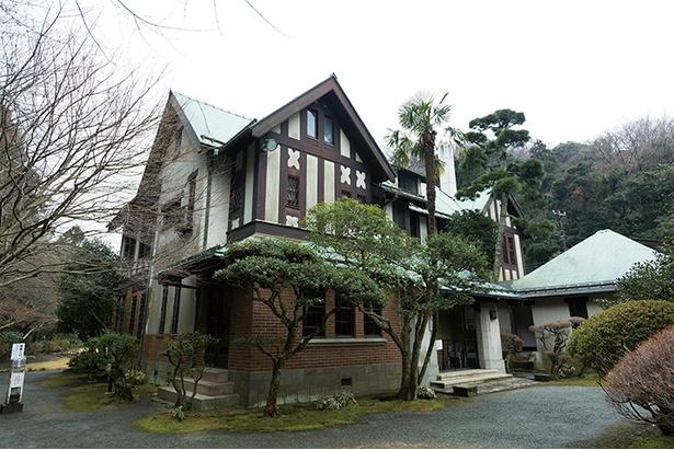 西洋木造建築の洋館。登録有形文化財にも指定