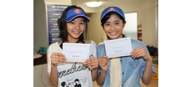 13歳、ともに中学一年生の横田美菜(右)と香音(左)