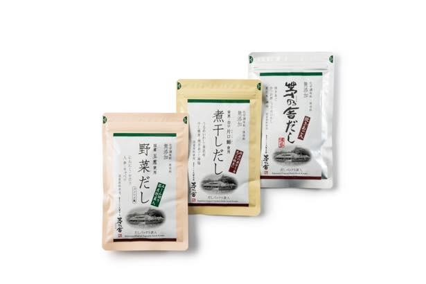 ファンも多い人気店、茅乃舎の「東京駅限定だし3種 『心ばかり』」(1250円)