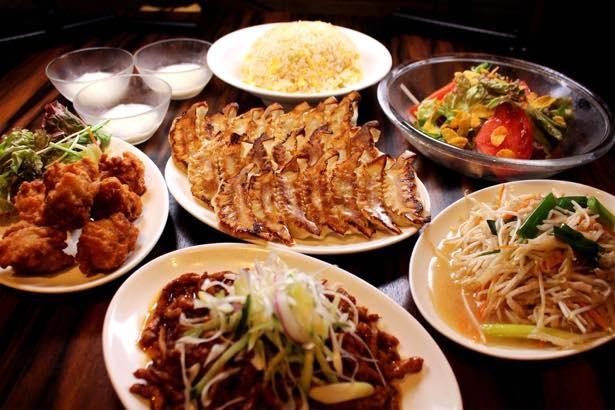 自慢の餃子を好きなだけ食べられる、餃子舖 珉珉の「珉珉餃子食べ放題コース」