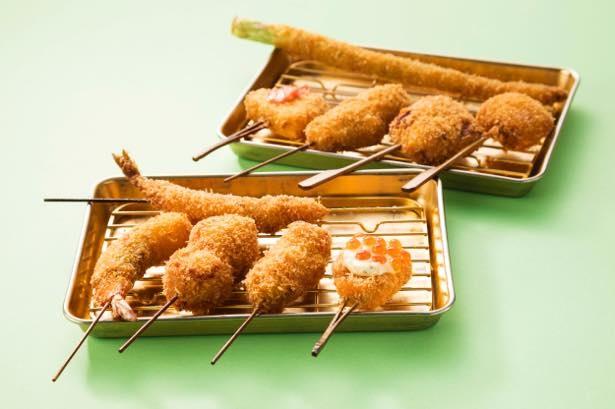 大人も子どもも楽しめる、串はんの「串揚げ 10本セット」(1800円)