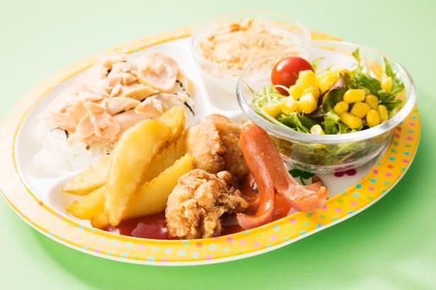 北海道の食材を使った、北海道チューボーの「北海道がいっぱいお子様セット」(580円)