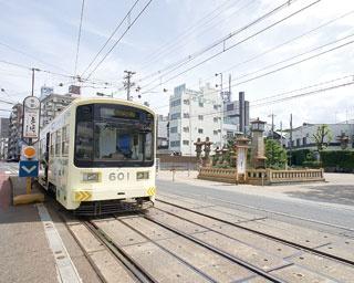 住吉駅周辺は特に下町情緒あふれるエリア/阪堺電車
